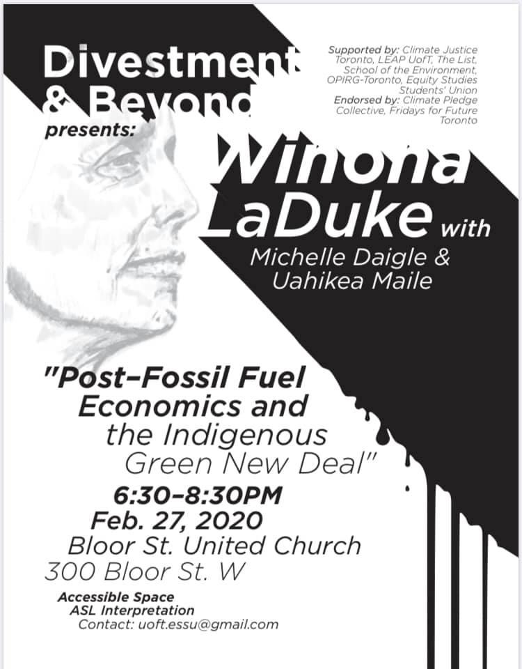 Winona LaDuke poster